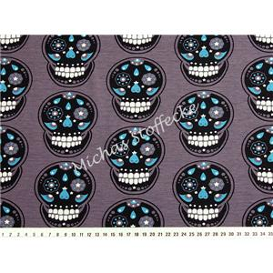 Stretch Jersey Calaveras antracit