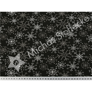 Stretch-Sweat Sparkling Stars svart silver