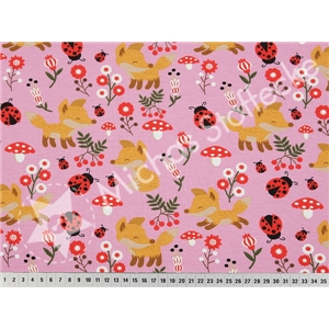 Stretchjersey Little Fox Rosa