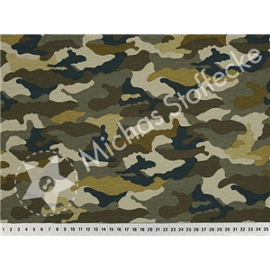 Stretchjersey Camouflage khaki