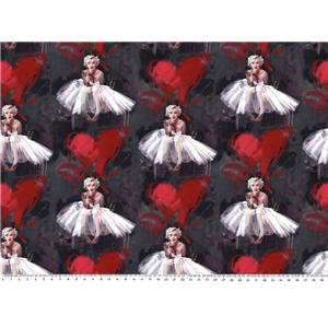 Digitaltryck Marilyn Monroe Hearts
