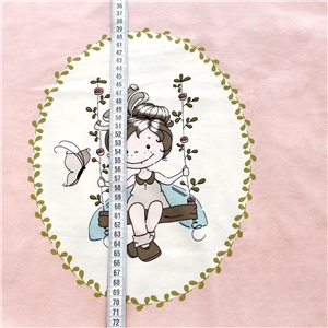 Biojersey Swing Fairy Panel (GOTS) 50 cm