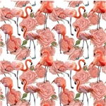 Flamingos With Roses