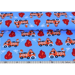 Firetrucks on Blue