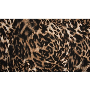 Viscose Leopard Brown