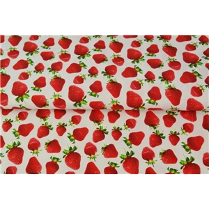 Strawberrys On White