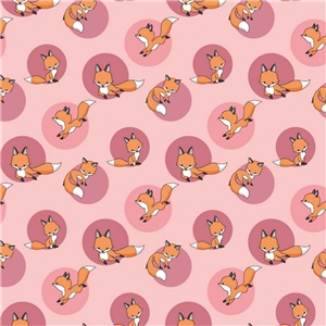 Foxes in Pink